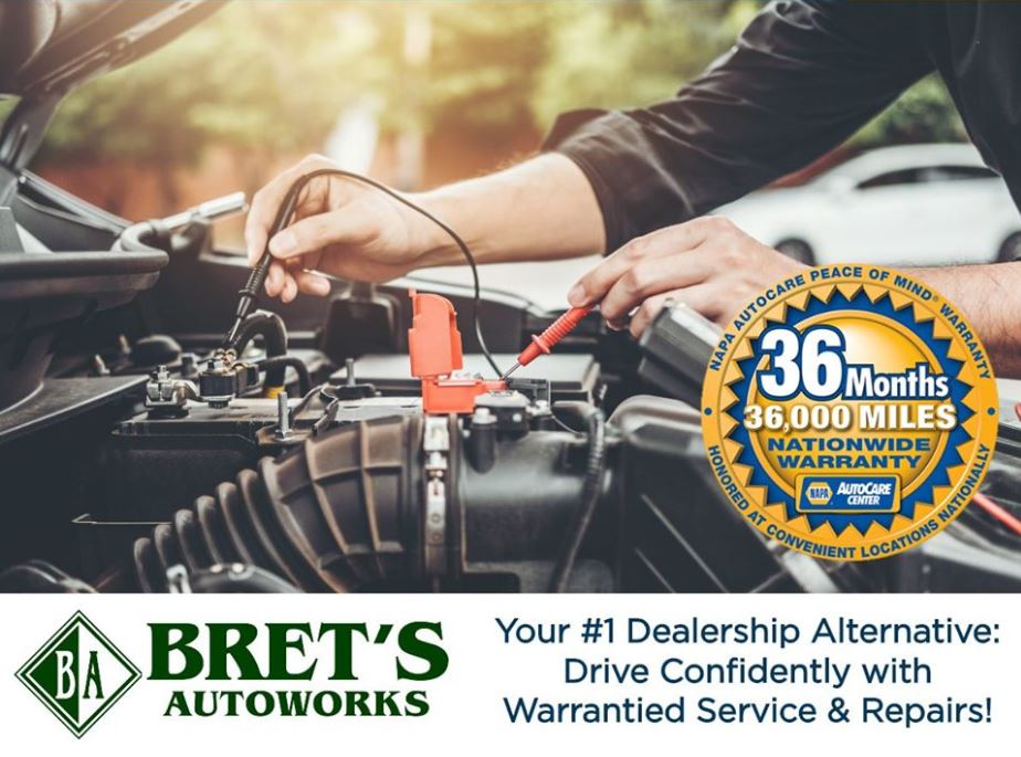 Warrantied Batteries at Bret's Autoworks!